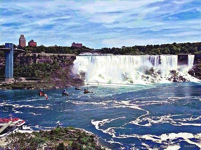 Photograph - Niagara Falls On - Zipline by Susan Savad