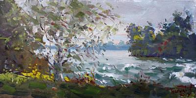 Niagara Falls Wall Art - Painting - Niagara Falls Park Rapids by Ylli Haruni