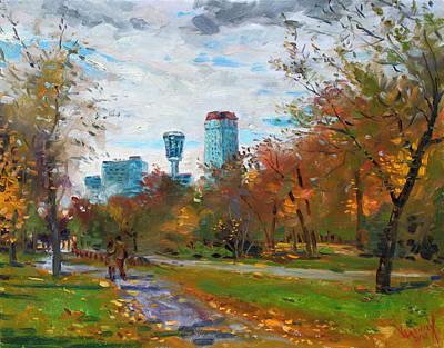 Lanscape Painting - Niagara Falls Park by Ylli Haruni