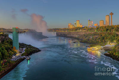 Photograph - Niagara Falls Pre-sunrise I by Clarence Holmes