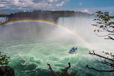 Photograph - Niagara Falls, Rainbow And Maid Of The Mist by Venetia Featherstone-Witty