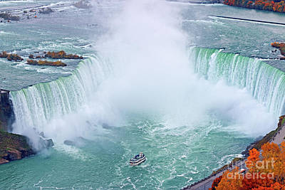 Photograph - Niagara Falls Red Autumn by Charline Xia