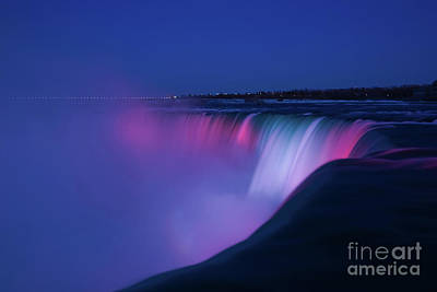 Photograph - Niagara Falls Red White And Blue by Rachel Cohen