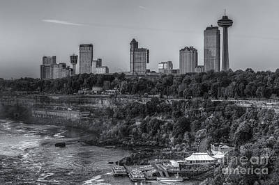 Photograph - Niagara Falls Skyline II by Clarence Holmes