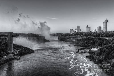 Photograph - Niagara Falls Sunrise Light Iv by Clarence Holmes