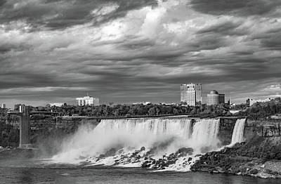Photograph - Niagara Falls - The American Side 3 Bw by Steve Harrington