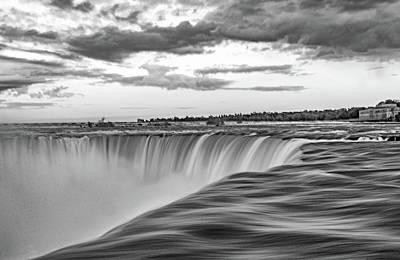 Photograph - Niagara Falls - The Brink Bw by Steve Harrington