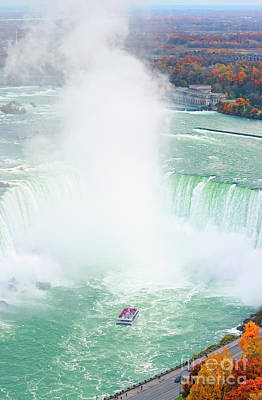 Photograph - Niagara Falls Boat Cruise In Autumn by Charline Xia