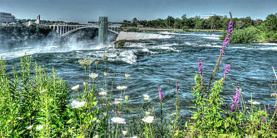 Photograph - Niagara Falls Usa - Hdr by Leslie Montgomery