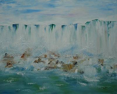 Painting - Niagara Falls View From Maid Of The Mist by Judith Rhue