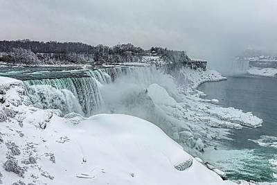 Photograph - Niagara Falls Winter Close-up by Josh Bryant