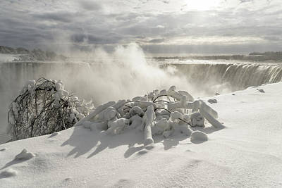 Photograph - Niagara Falls Winter Wonderland by Georgia Mizuleva