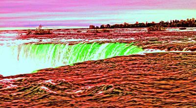 Photograph - Niagara Falls...the Painted Horseshoe by Daniel Thompson