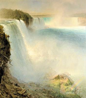 Painting - Niagara From American Side by Pg Reproductions