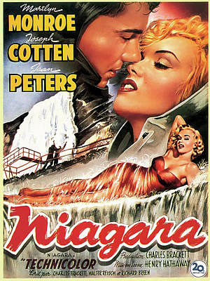 Blockbuster Photograph - Niagara Movie Lobby Promotion  1953 by Daniel Hagerman
