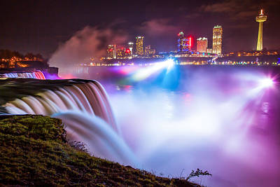 Niagara Night Art Print by Adam Pender