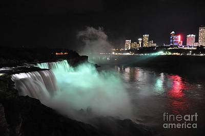 Photograph - Niagara Night Lights by Gina Savage