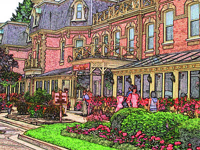 Digital Art - Niagara On The Lake - Prince Of Wales Hotel by Leslie Montgomery