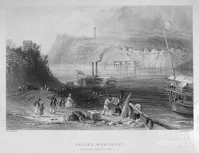 Niagara River, 1839 Art Print
