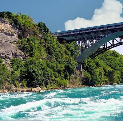 Photograph - Niagara River Looking Toward Rainbow Bridge by Janette Boyd