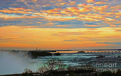 Photograph - Niagara River Sunset Clouds by Charline Xia