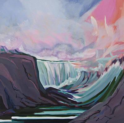 Painting - Niagara Thunder 1 by J R Baldini