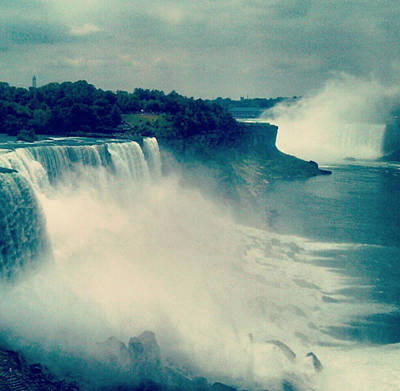 Photograph - Niagara Falls In New York State by Paulo Guimaraes