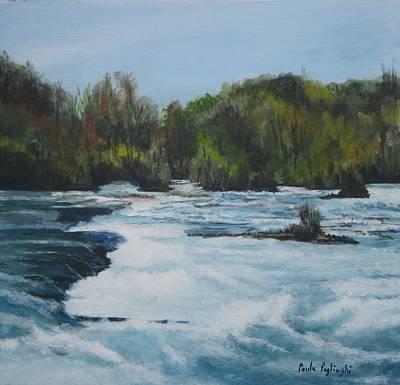 Painting - Niagra Rapids by Paula Pagliughi