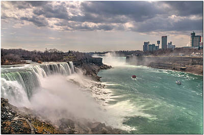 Digital Art - Niagra Waterfalls by Ed Cabral