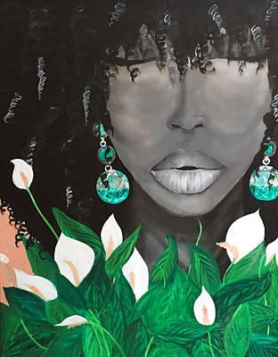 Acrylic Painting - Niahmari Lynn by Quea Reshawn