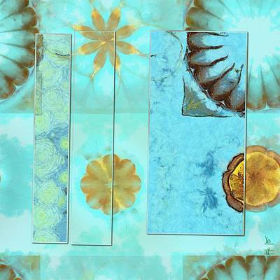 Slate Pattern Painting - Nib Pattern Flowers  Id 16164-204905-63141 by S Lurk