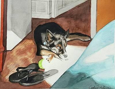 Carolyn Anderson Painting - Nibbles by Carolyn Anderson