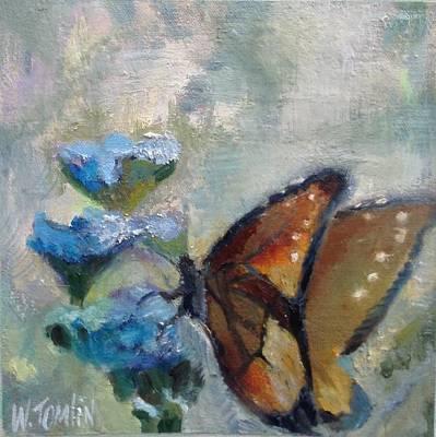 Nibbling Nectar Art Print