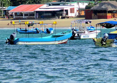 Photograph - Nicaragua Boats 2 by Randall Weidner