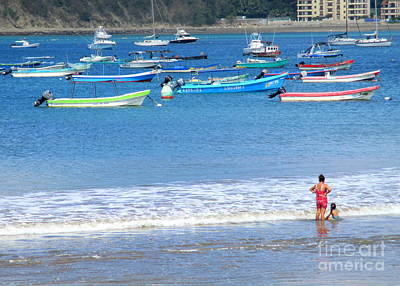 Photograph - Nicaragua Boats 8 by Randall Weidner