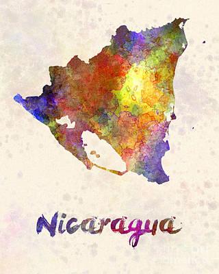 Nicaragua Painting - Nicaragua In Watercolor by Pablo Romero