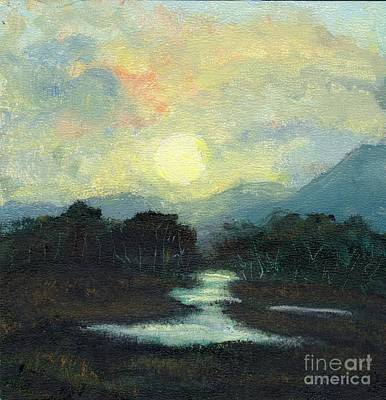 Painting - Nicaragua Jungle Moon by Randy Sprout