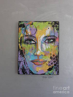 Wall Art - Painting - The Face Of Kristine by Midge Pippel