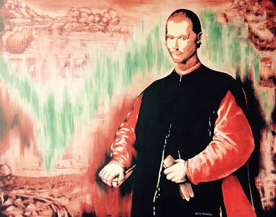 Painting - Niccolo' Machiavelli by Victor Minca