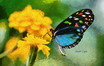 Monarch Painting - Nice Butterfly by Leonardo Digenio