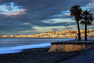 Photograph - Nice City Skyline At Sunrise In France by Artur Bogacki
