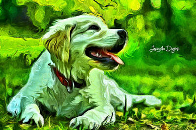 Domesticated Digital Art - Nice Dog - Da by Leonardo Digenio