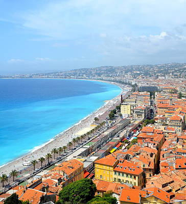 Photograph - Nice France Coastline by Corinne Rhode