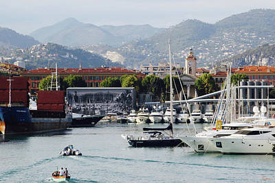 Photograph - Nice Harbour Life by Rasma Bertz