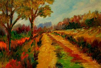 Nice Pathway Art Print by Constantinos Charalampopoulos