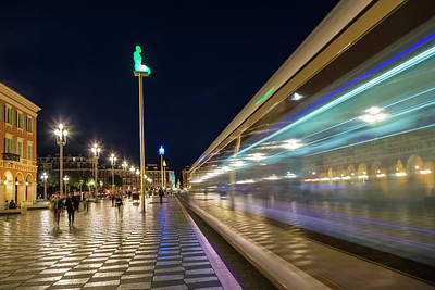 Abstract Sights Photograph - Nice Place Massena In The Evening by Melanie Viola