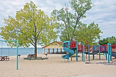 Photograph - Nice Play Equipment At North Beach Park In Ottawa County, Michigan  by Ruth Hager