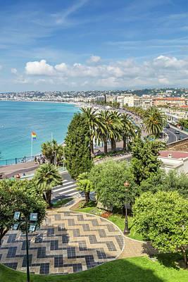Chateau Photograph - Nice Promenade Des Anglais by Melanie Viola