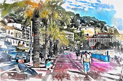 Digital Art - Nice Promenade  by Yury Malkov