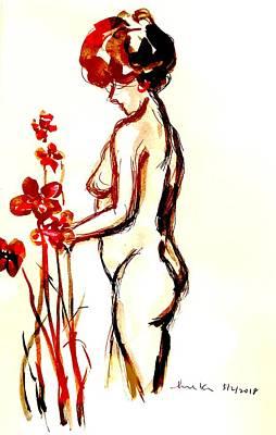 Drawing - Nice Study 5218 by Hae Kim
